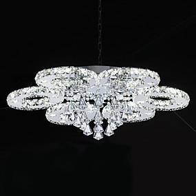 povoljno Kristal Svjetla-Flush Mount Ambient Light Chrome Metal Crystal, LED 110-120V / 220-240V Bijela Uključen je LED izvor svjetlosti / Integrirano LED svjetlo