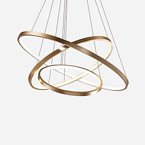 voordelige Hanglampen-Cirkelvormig Plafond Lampen Neerwaartse Belichting Geschilderde afwerkingen Metaal 防反光, Oogbescherming, Verstelbaar 110-120V / 220-240V Warm Wit / Koud wit / FCC