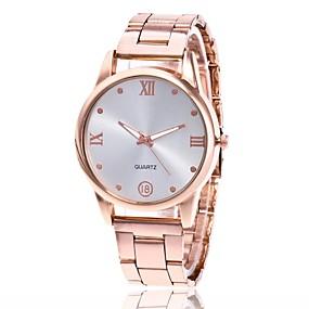 preiswerte Damenuhren-Herrn Damen Uhr Armbanduhr Goldene Uhr Quartz Metall Silber / Gold / Rotgold Armbanduhren für den Alltag Analog Charme Klassisch Kleideruhr Gold Silber Rotgold