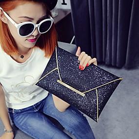 preiswerte Top Shoes & Bags-Damen Tasche PU Unterarmtasche Schwarz / Champagner / Gold