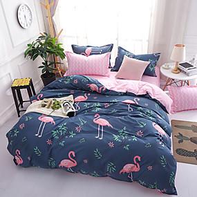 preiswerte Karikatur-Duvet-Abdeckungen-Bettbezug-Sets Cartoon Design 100% Baumwolle Reaktivdruck 4 StückBedding Sets / 300 / 4-teilig (1 Bettbezug, 1 Bettlaken, 2 Kissenbezüge) / (Für Einzelbett nur 1 Kissenbezug)
