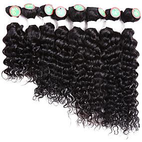 preiswerte Human Hair Weaves-8 Bündel Brasilianisches Haar Klassisch Wogende Wellen Cabello Natural Remy Ombre 8-14 Zoll Schwarz Ombre Menschliches Haar Webarten Schlussverkauf Haarverlängerungen / 10A