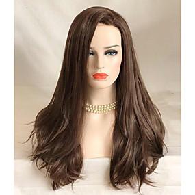 preiswerte Uniwigs®-Synthetische Lace Front Perücken Wellen Wellen Spitzenfront Perücke Lang Braun Synthetische Haare Damen Braun Uniwigs