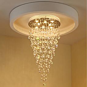 povoljno Lámpatestek-8-Light Lusteri Downlight Electroplated Metal Crystal, Bulb Included, dizajneri 110-120V / 220-240V Meleg fehér / GU10