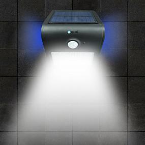 preiswerte LED Solarleuchten-Brelong 1 pc 2 watt led menschlichen körper sensor wasserdicht außen flut weißes licht golden / weiß / silber / schwarz