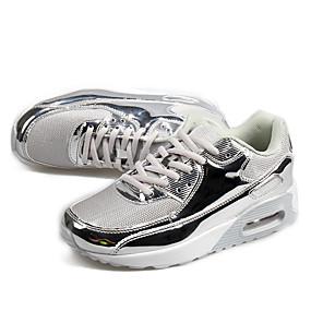 voordelige Wijdere maten schoenen-Heren Lichte zolen Tule / PU Herfst / Winter Sneakers Zwart en Zilver / Goud / Zilver / Sprankelend glitter / Feesten & Uitgaan / Feesten & Uitgaan / ulko-