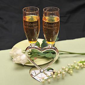 preiswerte Customized Prints and Gifts-Zinklegierung Toasten Flöten Geschenkbox Hochzeit Ganzjährig