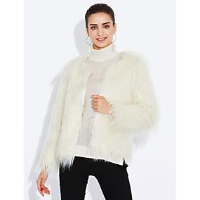 preiswerte yeshidon-Damen Party / Alltag Retro Frühling / Herbst / Winter Standard Mantel, Solide ohne Kragen Langarm / Die Ärmellänge für Größe S beträgt 60cm (Die Ärmellänge verlängert sich um 20cm mit jeder