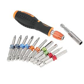 cheap Networking Testers & Tools-12 in 1multi tool Professional screwdriver set Color Ring Screwdriver Multi-functional magnet Screw Bits Kit Repair Tool
