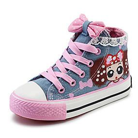 billige Kids' Shoes Promotion-Jente Komfort Lerret Treningssko Små barn (4-7år) / Store barn (7 år +) Mørkeblå / Lyseblå Vår / EU37
