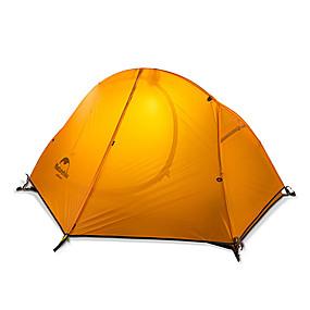 preiswerte Naturehike®-Naturehike 1 Person Zelte für Rucksackreisen Außen Wasserdicht Regendicht Gut belüftet Doppellagig Camping Zelt für Angeln Strand Camping Fiberglas