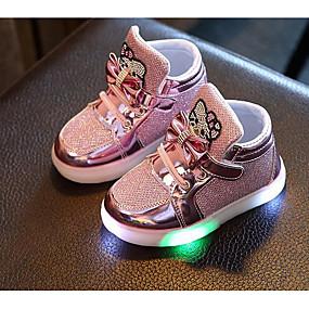 billige Kids' Shoes Promotion-Jente Komfort PU Treningssko Små barn (4-7år) Sølv / Fuksia / Rosa Høst / Vinter