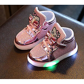 cheap Kids' Shoes Promotion-Girls' Comfort PU Sneakers Little Kids(4-7ys) Silver / Fuchsia / Pink Fall / Winter
