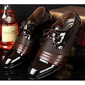 voordelige Wijdere maten schoenen-Heren Comfort schoenen PU Lente / Herfst Brits Oxfords Zwart / Bruin / EU40