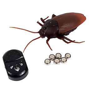 cheap Halloween Toys-Remote Control RC Building Block Kit Electronic Pets Cockroach Toy Remote Control / RC Strange Toys Electric New Design Kid's Adults' Gift