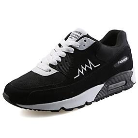 voordelige Wijdere maten schoenen-Heren Comfort schoenen PU Lente / Herfst Sportschoenen Wandelen Zwart / zwart / wit / Grijs / EU40