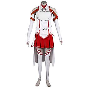 preiswerte 2019 Fantasias & Cosplay-Inspiriert von SAO Alicisation Yuuki Asuna Anime Cosplay Kostüme Cosplay Kostüme Patchwork Bluse / Rock / Ärmel Für Damen