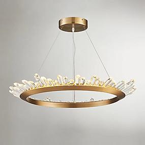 povoljno Lámpatestek-QIHengZhaoMing Cirkularno Privjesak Svjetla Ambient Light Electroplated Metal Crystal, Bulb Included, Produžen 110-120V / 220-240V