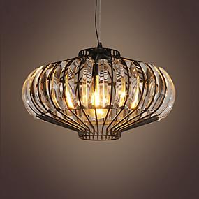 cheap Lantern Design-1-Light Modern Crystal Pumpkin Flush Mount Pendant Lights Painted Finishes Metal Crystal 110-120V / 220-240V Warm White