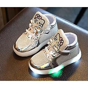 preiswerte Schuhe für Kinder-Mädchen Komfort PU Sneakers Kleine Kinder (4-7 Jahre) Silber / Fuchsia / Rosa Herbst / Winter
