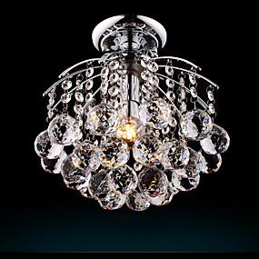 povoljno Lámpatestek-Flush Mount Downlight Silver Metal Crystal, Bulb Included 110-120V / 220-240V Meleg fehér / Hladno bijela Bulb Included / E26 / E27