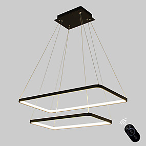 cheap Ceiling Lights & Fans-1-Light Ecolight™ 40 cm Bulb Included / Adjustable / Dimmable Pendant Light Metal Acrylic Linear Painted Finishes Modern Contemporary 110-120V / 220-240V