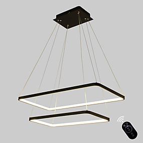 povoljno Viseća rasvjeta-ecolight ™ geometrijska linearna privjesna ambijentalna svjetlost obojena je metalnom akrilnom sijalicom, podesiva, zatamnjena 110-120v / 220-240v topla bijela / bijela / g9