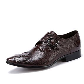 voordelige Wijdere maten schoenen-Heren Formele Schoenen Leer Lente / Herfst Zakelijk bruiloft Schoenen Zwart / Koffie / Bruiloft / Feesten & Uitgaan / Feesten & Uitgaan / Jurk schoenen