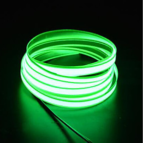 cheap Light Strips & Strings-BRELONG 1 pc 3M Light String 0LED 2.3mm DC12V EL White Red Blue Pink Green Orange Light Blue
