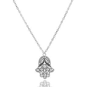 preiswerte Ausverkauf-Damen Pendant Halskette Billig Europäisch Simple Style Aleación Silber Modische Halsketten Schmuck Für Party Alltag Normal