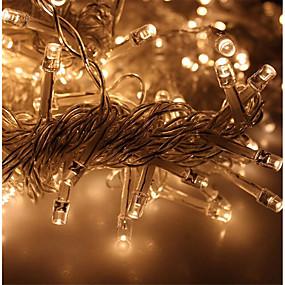 preiswerte Ausverkauf-KWB 3M Leuchtgirlanden 300 LEDs Warmes Weiß / Weiß / Blau Wasserfest 220-240 V 1 set / IP65