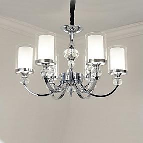 povoljno Stropna svjetla i ventilatori-QINGMING® 6-Light Svijeća stilu Lusteri Uplight Electroplated Metal Glass Crystal, Mini Style 110-120V / 220-240V / E12 / E14