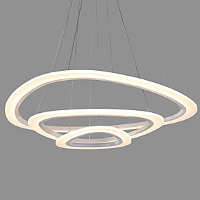 povoljno Viseća rasvjeta-moderna akrilna trokut jednostavnost vodio privjesak svjetla tri prstena zatvoreni svjetlo za uredski dnevni boravak spavaća soba restoran
