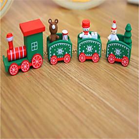 preiswerte Spielzeug für Weihnachten-Weihnachtsdeko Weihnachts Geschenke Spielzeug für Weihnachten Züge Weihnachten Urlaub Schleppe Kinder Schneemann Hölzern Kinder Erwachsene Jungen Mädchen Spielzeuge Geschenk 1 pcs