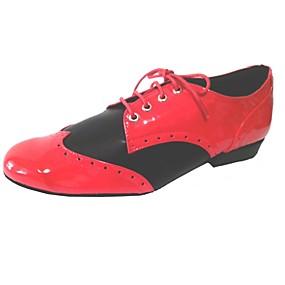 ราคาถูก Dance Shoes-สำหรับผู้ชาย รองเท้าเต้นรำ หนังสิทธิบัตร สวิง ส้น แดง / ขาว / สีดำ / สีแดง / แดง-ดำ / ในที่ร่ม / EU43