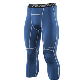 cheap Men's Activewear-Arsuxeo Men's Running Tights Leggings Compression Pants Athletic 3/4 Tights Base Layer Leggings Spandex Fitness Gym Workout Running Jogging Exercise Quick Dry Moisture Wicking Soft Plus Size Sport