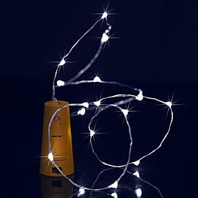 preiswerte Haus & Garten-BRELONG® 1.5 Leuchtgirlanden 15 LEDs LED Diode Warmes Weiß / Weiß / Blau Wasserfest 1pc