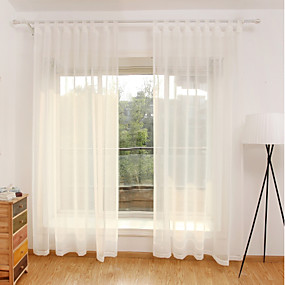 cheap Curtains & Drapes-Contemporary Sheer Curtains Shades Sheer Bedroom   Curtains