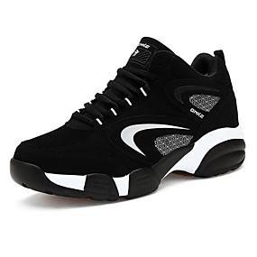 levne Větší obuv-Pánské Komfortní boty Kůže nubuck Jaro / Podzim Atletické boty Basketbal Červená / Černá / Modrá / EU40
