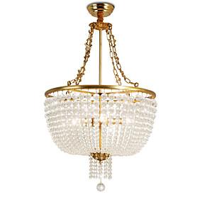 povoljno Lámpatestek-OBSESS® 6-Light Privjesak Svjetla Ambient Light Polirani mesing Metal Crystal, Protiv odsjaja 110-120V / 220-240V
