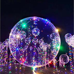 preiswerte Toys & Games carnival sale-3M 18Inch LED - Beleuchtung Ballons LED-Ballon Urlaub Romantik Geburtstag Beleuchtung Nachfüllbar Im Dunkeln leuchtend Kinder Erwachsene Jungen Mädchen Spielzeuge Geschenk 1-15 pcs / Neues Design