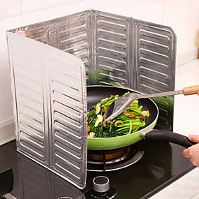 preiswerte Haus & Garten-aluminiumfolie küche kochen bratpfanne öl splash anti splatter schutzschild