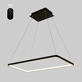 povoljno Lámpatestek-ecolight ™ geometrijska linearna privjesna ambijentalna svjetlost obojena je metalnom akrilnom sijalicom, podesiva, zatamnjena 110-120v / 220-240v topla bijela / bijela / wi-fi smart / g9