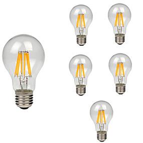 preiswerte Mehr Bestellen & Mehr Sparen-6pcs 8 W LED Glühlampen 760 lm E26 / E27 A60(A19) 8 LED-Perlen COB Dekorativ Warmes Weiß Kühles Weiß 220-240 V / RoHs