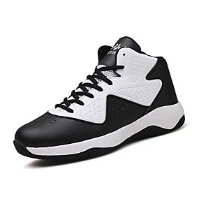 preiswerte Bequeme Schuhe-Herrn PU Frühling / Herbst Komfort Sneakers Basketball Rutschfest Weiß / Grau / Rot