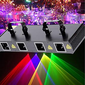 رخيصةأون أضواء المسرح-U'King أضواء الديسكو ضوء الحزب إضاءة المسرح ليزر 7 DMX 512 / السيد و العبد / الصوت المنشط 30 W الخارج / حفلة / مرحلة متخصص أحمر أصفر أخضر لحفلة الرقص حفل زفاف DJ ديسكو إظهار الإضاءة