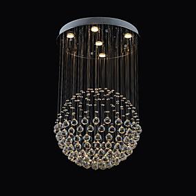 povoljno Lámpatestek-5-Light Flush Mount Ambient Light Nehrđajući čelik Metal Crystal 110-120V / 220-240V Meleg fehér Bulb Included / GU10