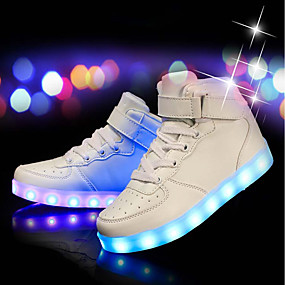 cheap Shoes & Bags-Boys' Comfort / LED Shoes PU Sneakers Little Kids(4-7ys) / Big Kids(7years +) LED White / Black / Red Spring & Summer / Party & Evening / TR