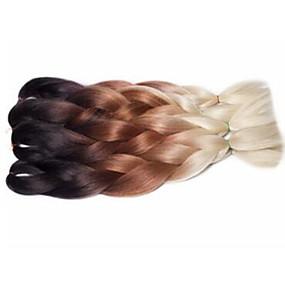 preiswerte Eunice hair®-Geflochtenes Haar Gehäkelt Jumbo-Zöpfe 100% kanekalon haare Kanekalon 3 Stück Haar Borten Ombre Lang Getönte Haarteile zum Flechten