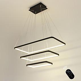 povoljno Viseća rasvjeta-ecolight ™ geometrijska linearna viseća žarulja uključena, podesiva, podesiva 110-120v / 220-240v topla bijela / bijela / wi-fi pametna